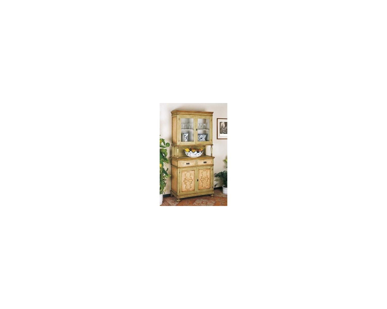 Credenza Con Vetrina Maison Du Monde : Vetrina in stile countryin legno massellodecorata a mano con colori