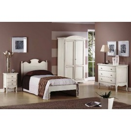 SINGLE BED COUNTRY ANTIQUE WOOD - WOOD BED