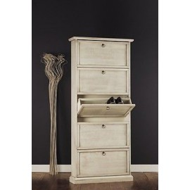 MOBILE SCARPIERA 5 DOORS PAINTED IVORY ANTIQUE
