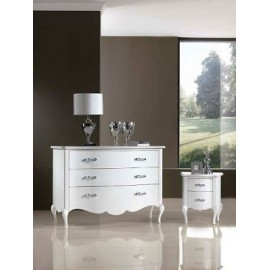 IN OFFER NIGHT TABLE 2 DRAWERS GLOSS WHITE