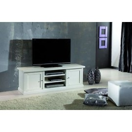 MOBILE TV STAND CHEST MATT WHITE