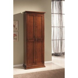 MOBILE CABINET WOODEN SHOE CABINET 2 DOOR POOR ART COLOR WALNUT X'S PANTRY