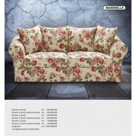 SOFA 4 PLACES CLASSIC LIVING ROOM VARIOUS COLORS ITALIAN PRODUCT