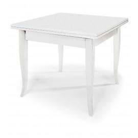 Tavolo Quadrato Bianco Allungabile.Tavolo Legno Quadrato Allungabile Col Bianco Opaco