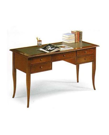 Tavolo scrivania legno scrittoio cm 150 col noce arte for Tavolo scrivania