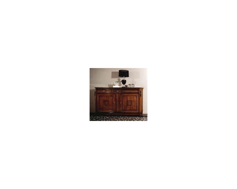 Credenza Moderna Legno Massello : Credenza intagliata legno massello colore noce