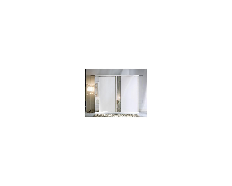 Armadio 2 Ante Scorrevoli A Specchio.Armadio 2 Ante Scorrevoli Con Specchio Bianco Come Foto Legno Massello
