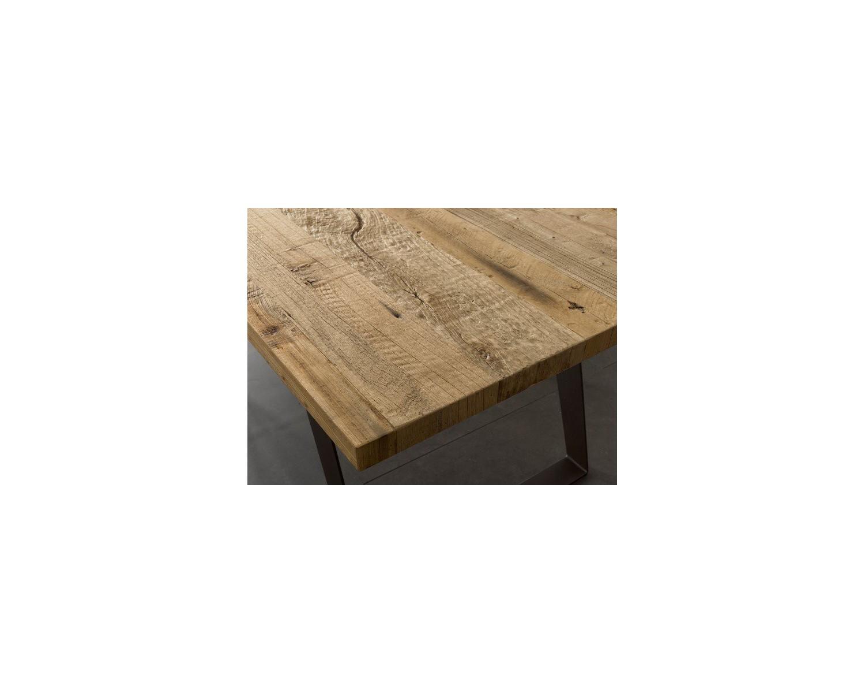 Tavolo design in legno massello ontano for Tavolo in legno design