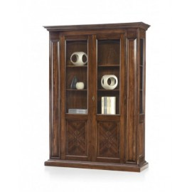 SHOWCASE IN WOOD WITH WALNUT BASSANO