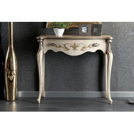 CONSOLE 1 DRAWER WOOD DECORATED WITH HAND INTARSIO