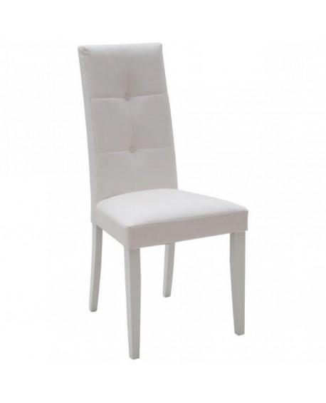 LEATHER Stuhl mit weißem Gestell weiß