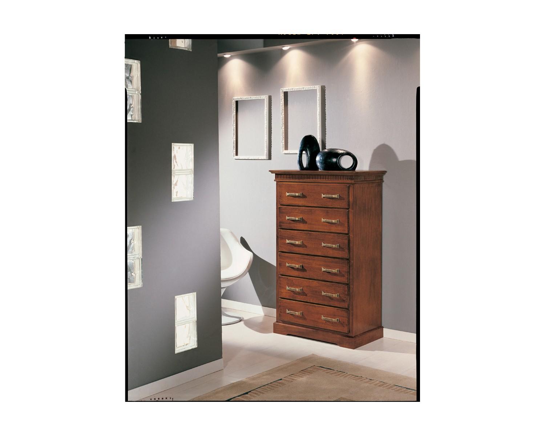 Cassettiera legno colore noce con intarsio x camera da letto - Camera da letto legno ...