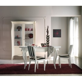 TABLE OVALE BOIS LACCATOALLUNGABILE