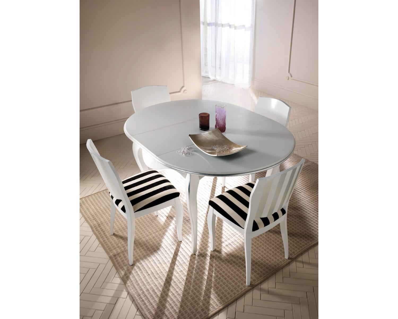 Tavolo ovale legno massello laccatoallungabile for Tavolo ovale allungabile legno massello