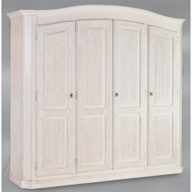 CABINET 4 DOORS FIR BRUSHED WHITE SOLID WOOD L 231 P 63 H 219