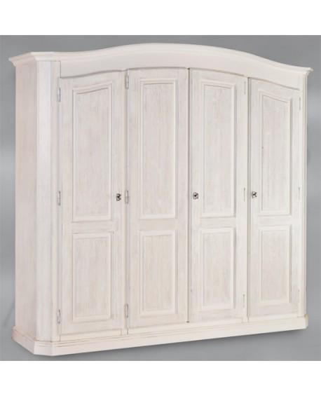 SCHRANK 4 DOORS FIR GEBÜRSTETEN WEISS MASSIVHOLZ HOLZ L 231 P 63 H 219