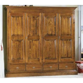 CABINET 4 DOORS 4 DRAWERS SOLID WOOD L 234 P 61 H 221