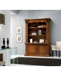 LIBRARY 2 DOORS IN SOLID WOOD CARVED ARTIGIANALE L 164 P 53 H 225