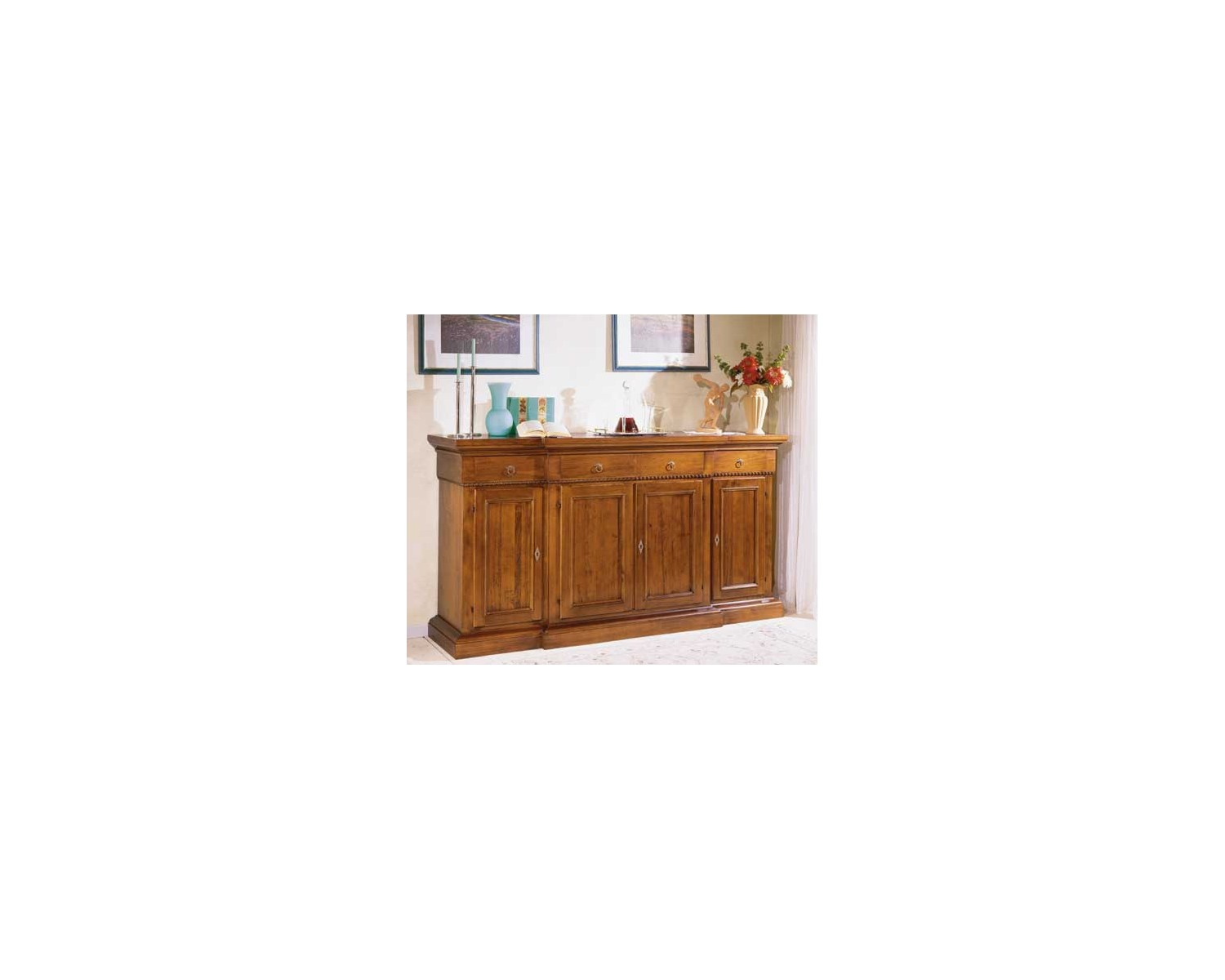 Credenza Moderna 4 Ante Basic : Duna sideboard with push pull doors napol furniture