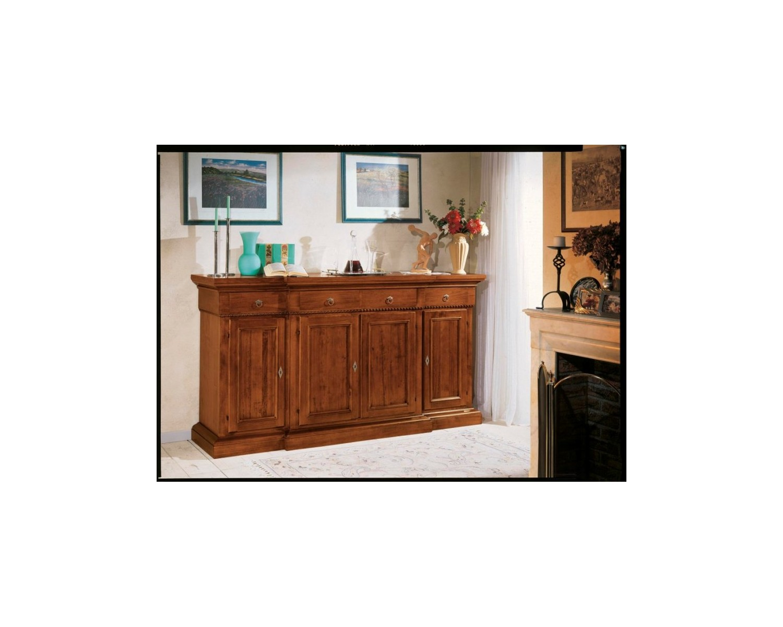 Credenza Con Alzata Arte Povera : Credenza in legno massello artigianale ante l p h