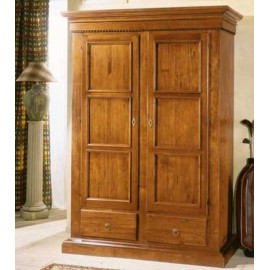 CABINET 2 DOORS 2 DRAWERS INTARSIATO SOLID WOOD L 145 P 62 H 204