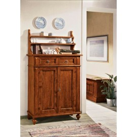 CREDENZA WOOD with plate L 105 P 42 H 180 plate rack including - COUNTRY COLLECTION