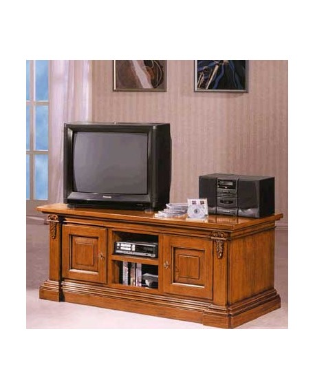 Cassapanca Porta Tv.Porta Tv Intagliato In Legno Massello L 158 P 60 H 62