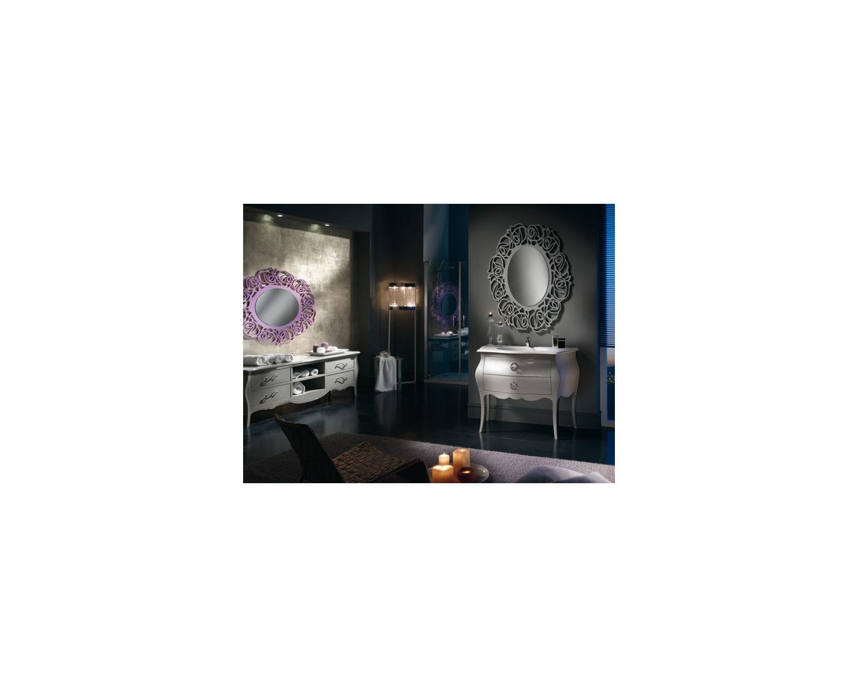 MÖbel badmÖbel design spiegel mit swarovski lackierte tortora veneto