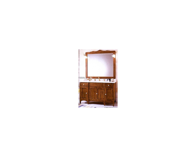 Credenza Arte Povera Bagno : Mobile bagno arredo legno massello arte povera classico con specchiera