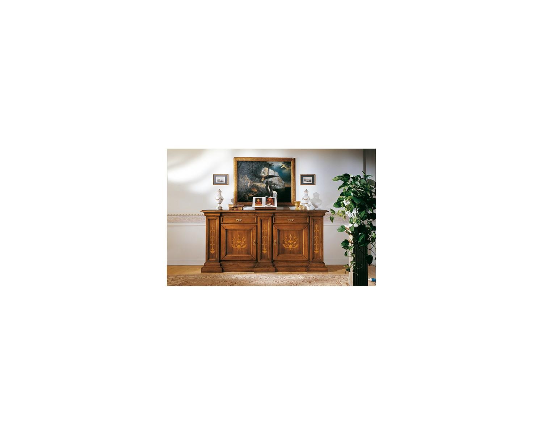 La Credenza In Tedesco : Küchenschrank style bassano eingelegt massivholz holz l p 240 55 h 116