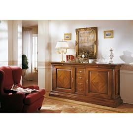 Küchenschrank STYLE BASSANO EINGELEGT MASSIVHOLZ HOLZ L 227 P 55 H 110