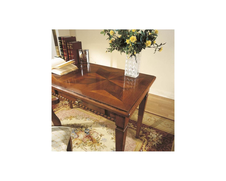 Tavolo scrivania scrittoio legno massello con intarsio xh