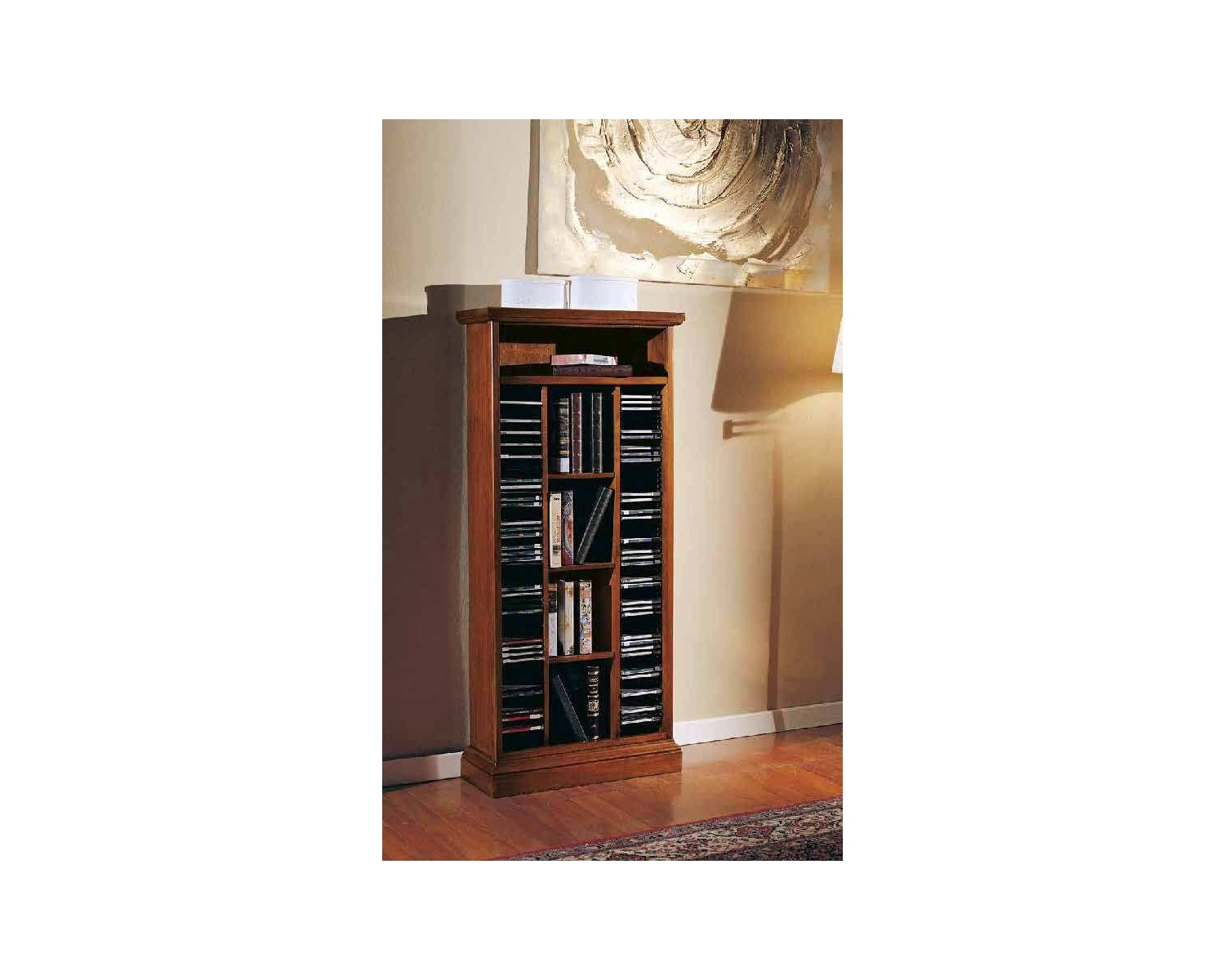 CD HOLDER IN WOOD L 58 W 23 H 129