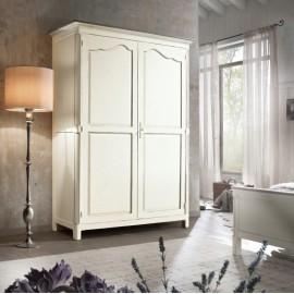 CABINET 2 DOORS SOLID WOOD WHITE ANTICATO - L. 157 - P. 60 - H. 217