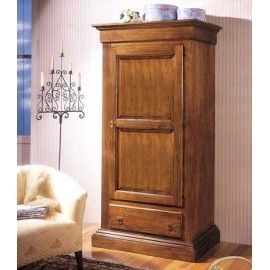 CABINET 1 DOOR 1 DRAWER SOLID WOOD L 96 P 56 H 197