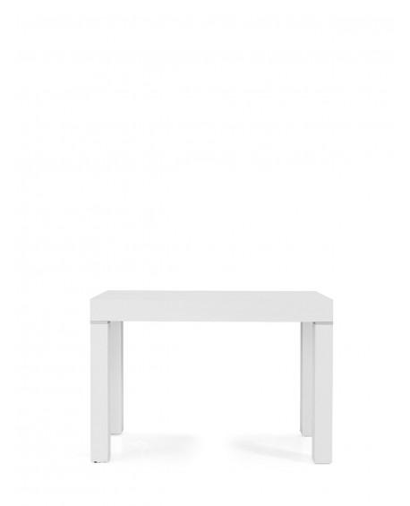 Tavolo legno moderno allungabile consolle bianco frassinato 110x50 110x300 - Tavolo consolle allungabile legno ...
