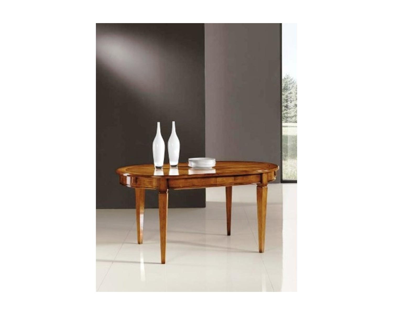 Tavolo ovale allungabile massello chiuso 160 x 100 aperto - Tavolo ovale allungabile ...