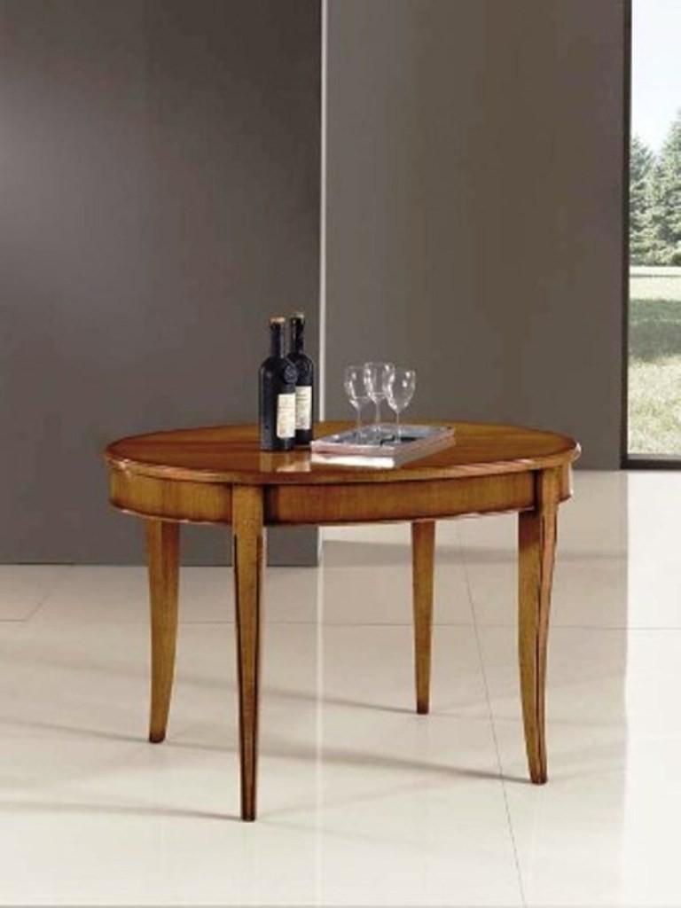 Tavolo In Arte Povera Allungabile.Tavolo Legno Massello Ovale Allungabile 80x110 Aperto 130x110