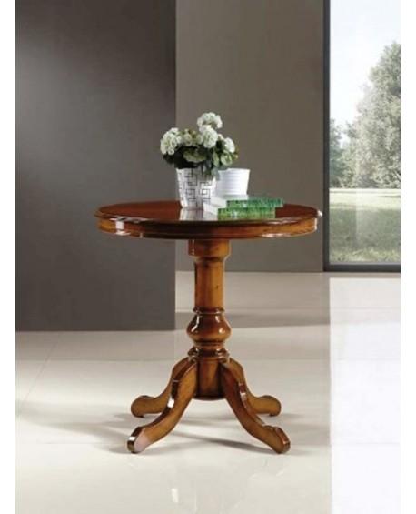 Tavolo in legno rotondo massello diametro 80 h 78 for Tavolo rotondo legno chiaro