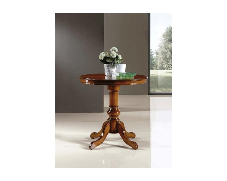 Tavolo in legno rotondo massello diametro 80 h 78 - Tavolo in legno massello prezzi ...