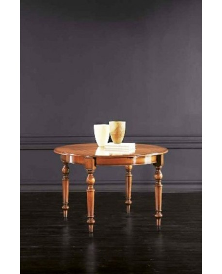 WOOD EXTENDING TABLE ROUND 40 ALL 120+. O 100 +40