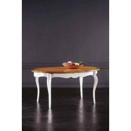 TABLE SOLID WOOD OVAL EXTENDING L 160 P 110