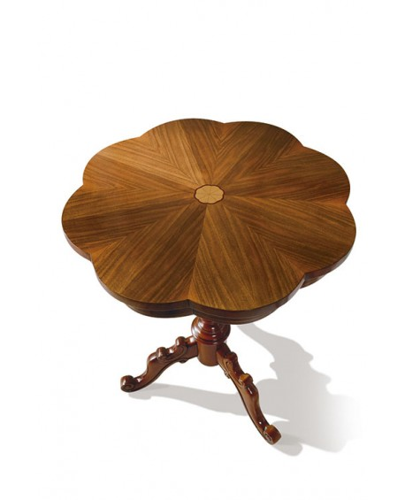 TABLE WOOD diameter 56 H 71 ROUND INTARSIATO SOLID WOOD