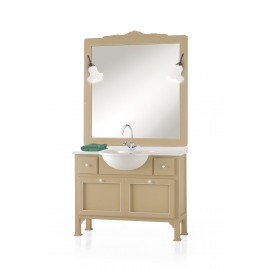 MOBILE BAGNO in legno massello L 108 P 36/50 + SPECCHIO E LAMPADE VARI COLORI