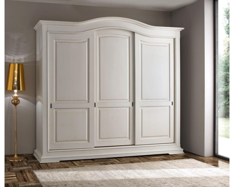 armadio 3 ante scorrevoli legno massello l 294 p 68 h 265