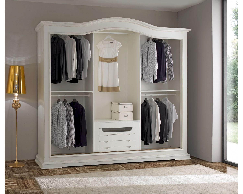 Credenza Moderna Con Espejo : Bellissimo armadio 3 ante scorrevoli legno massello