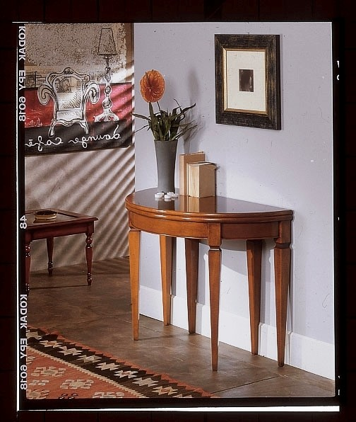 Tavolo Consolle Mezzaluna Allungabile.Tavolo Consolle Allungabile Legno Massello Table Consolle Wood
