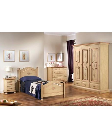 Camera completa in legno massello come foto decorata a mano vari colori - Mobilificio mercatone uno ...
