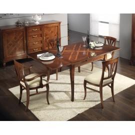 tavolo in legno massello con intersio allungabile - 170x90 + 2 all cm 40