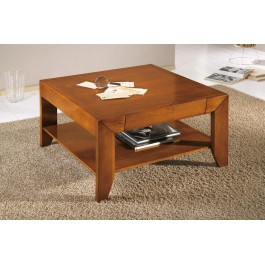 Tavolino Salotto In Noce.Tavolo Basso Salotto Quadrato Legno Massello Vari Colori